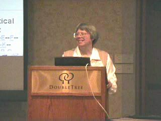 Marylaine Block speaking at Internet Librarians Conference